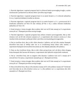 Zadaci za razmisljanje (2. deo)