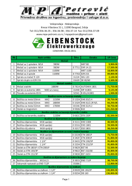 Cenovnik EIBENSTOCK