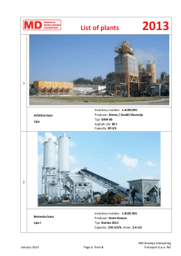 Katalog postrojenja MD GIT