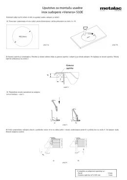 Uputstvo za montažu usadne inox sudopere «Venera