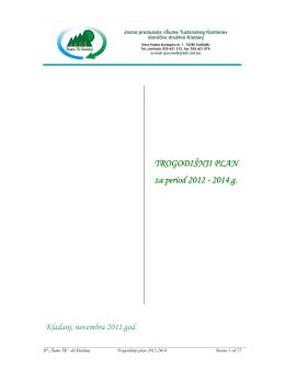 Trogodišnji plan za period 2012-2014. godinu