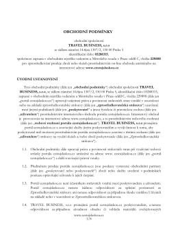OBCHODNÍ PODMÍNKY - Cestujslaskou.cz