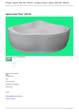 Polymit ugaone kade Ema 145x145, prodaja Polymit