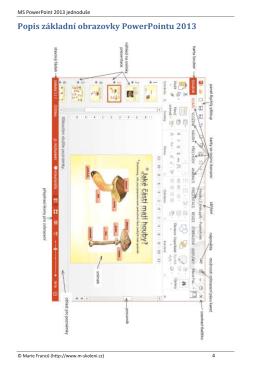 Ukázka z příručky MS PowerPoint 2013
