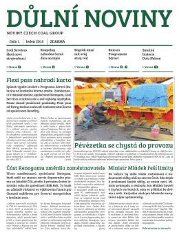 Důlní noviny ročník XVIII číslo 1