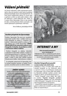 Zpravodaj - Klub chovatelů psů leonbergerů ČR