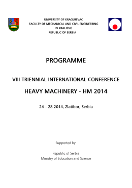 Untitled - VIII Triennial International Conference Heavy Machinery