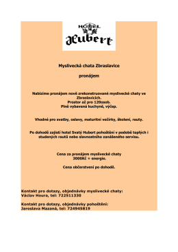 mysl chata - Hotel Hubert