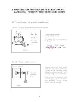 Drugi princip termodinamike za protočne termodinamičke sisteme
