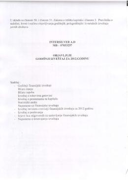 Godišnji izveštaj za 2012.