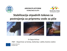 Dr Dejan Krčmar: Stabilizacija otpadnih tokova sa
