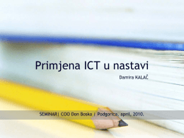 Primjena ICT u nastavi