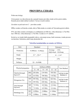 PROVIDNA CERADA - Oracal polikarbonati