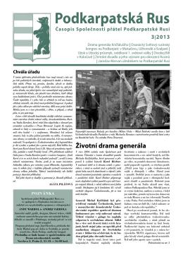 Podkarpatská Rus 3 - stránky společnosti přátel podkarpatské rusi