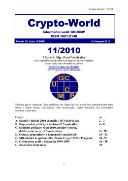 Sešit 11/2010- Crypto