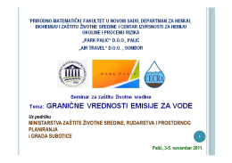 Granične vrednosti emisije za komunalne otpadne vode