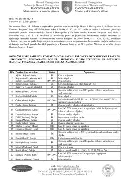 Konacne liste 2014 - potpisane - Ministarstvo za boračka pitanja