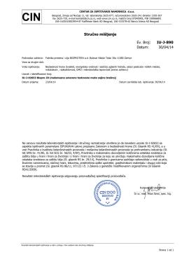 Izvestaj o ispitivanju Biopro 20 317 kb