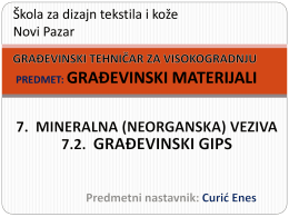 7.2_Mineralna veziva_gradjevinski gips