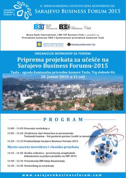 Priprema projekata za učešće na Sarajevo Business Forumu-2015