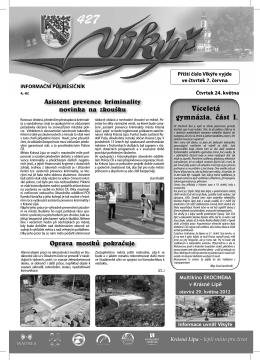 Asistent prevence kriminality novinka na zkoušku Oprava mostků
