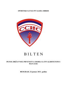 Preuzmi bilten - Sportski Savez Invalida Srbije