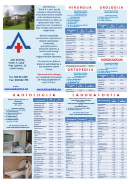 laboratorijaradiologi ja - JZU Bolnica Sveti apostol Luka Doboj