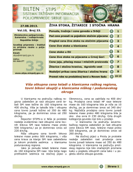 Viša otkupna cena teladi u klanicama raškog regiona, tovni