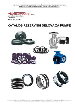 Rezervni delovi za cirkulacione pumpe