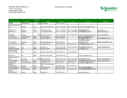 Schneider Electric Srbija doo + 381 11 3773 100 podrska.klijentima