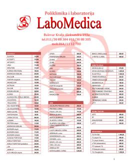 Poliklimika i laboratorija