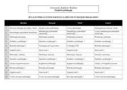 tabelarnom pregledu - Univerzitet Bijeljina