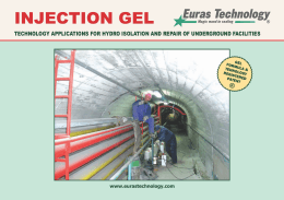 INJECTION GEL - Euras Technology Gel