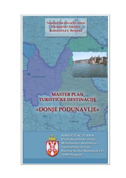 Master plan turisticke destinacije Donje podunavlje
