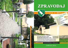červen 2014 - Újezd u Brna