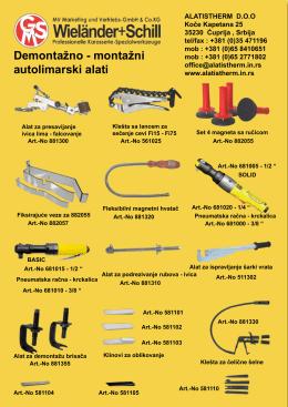 Demontažno - montažni autolimarski alati