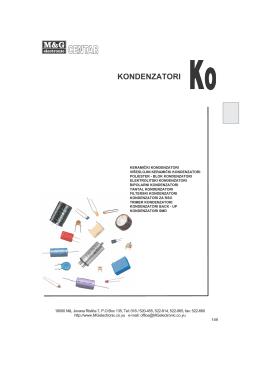 Kondenzatori - M&G Electronic