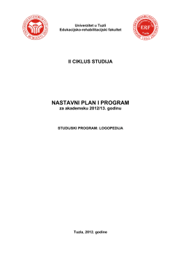 NASTAVNI PLAN I PROGRAM - Edukacijsko
