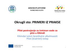 dr Božo Dalmacija: Pilot postrojenje za tretman