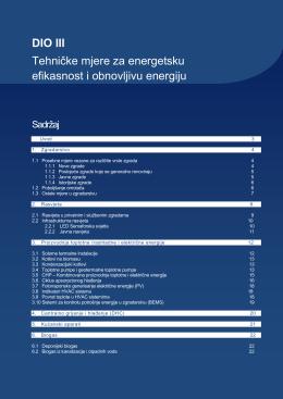DIO III Tehničke mjere za energetsku efikasnost i obnovljivu energiju