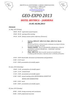 GEO GEO-EXPO 2013