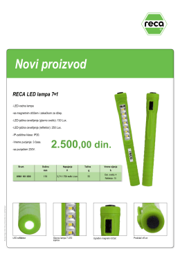 Novi proizvod RECA LED lampa 7+1