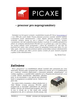 PICAXE – procesor pro neprogramátory