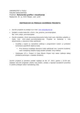 Računarska grafika i vizualizacija Nastavnik: Dr. sc. Emir Skejić, vanr.
