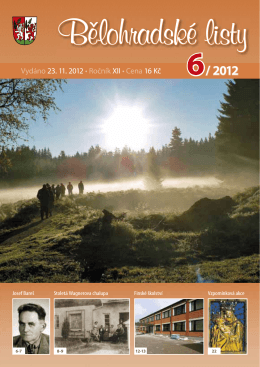 Bělohradské listy 6/ 2012