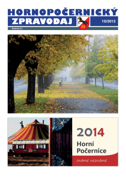Hornopočernický zpravodaj 10/2013
