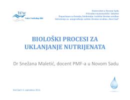 Biološki procesi za uklanjanje nutrijenata, dr
