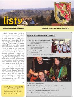 VL 1.2014 - Veltrusy