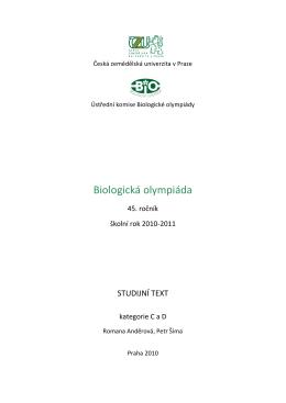 Stáhnout v PDF - Biologická olympiáda