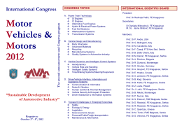 Motor Vehicles & Motors 2012 - Mobility & Vehicle Mechanics